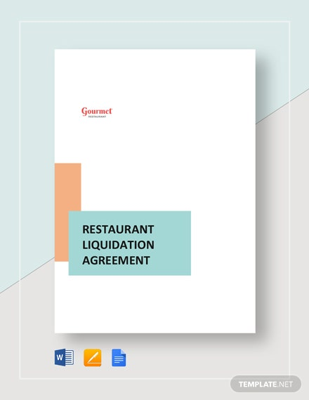 Restaurant Liquidation Agreement Template
