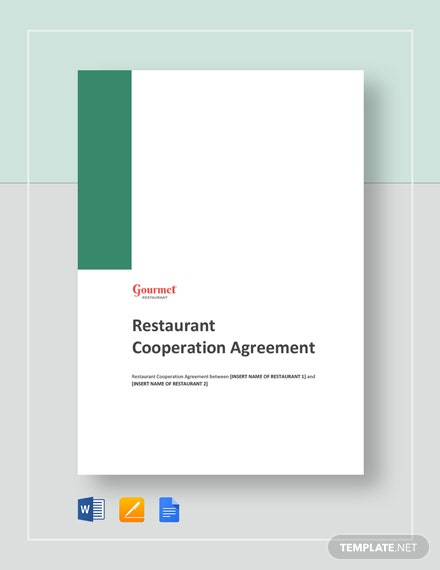 Restaurant Cooperation Agreement Template