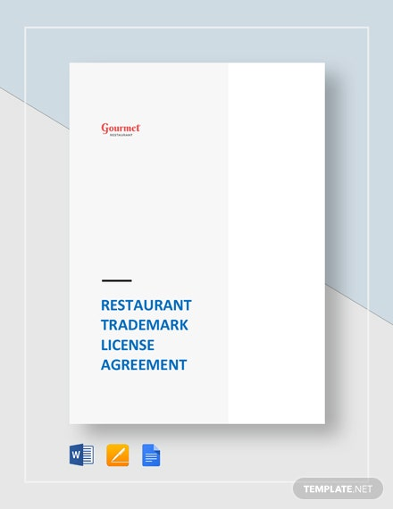 Restaurant Trademark License Agreement Template