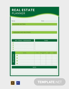 Free Real Estate Business Planner Template