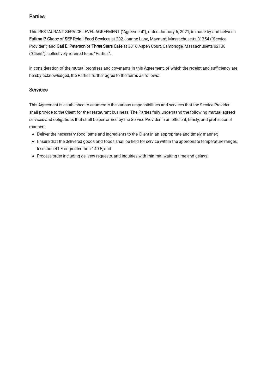 Restaurant Service Level Agreement Template 1.jpe