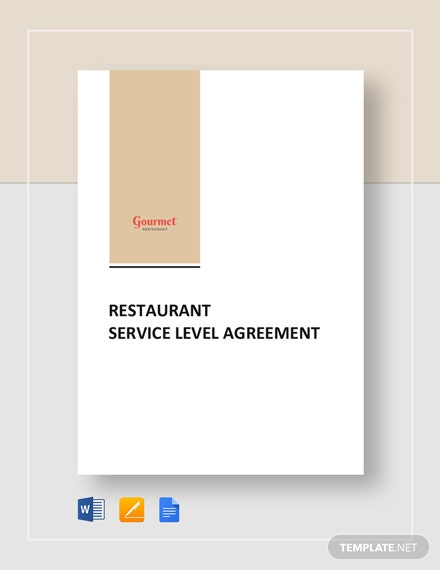 Restaurant Service Level Agreement Template