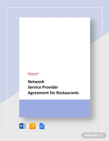 Agreement with Provider of Restaurant Network Services Template