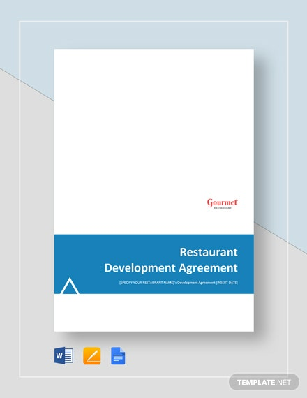 Restaurant Development Agreement Template