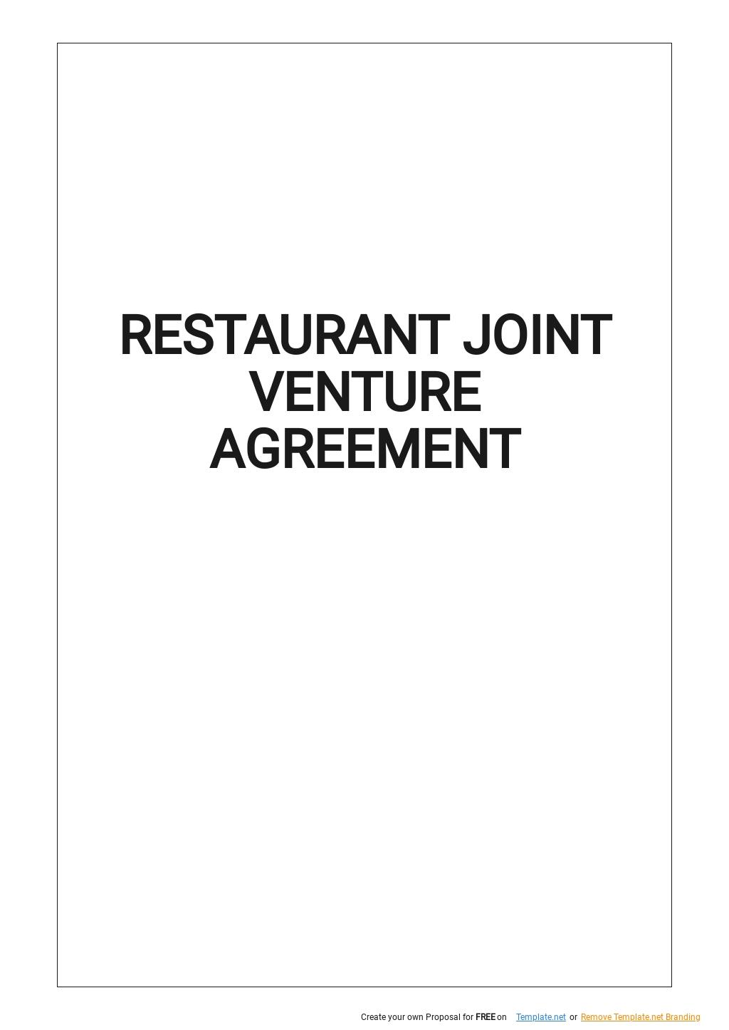 Restaurant Joint Venture Agreement Template.jpe