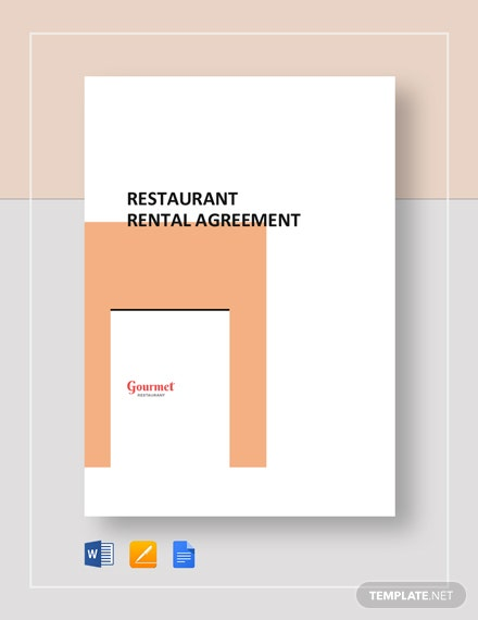 Restaurant Rental Agreement Template