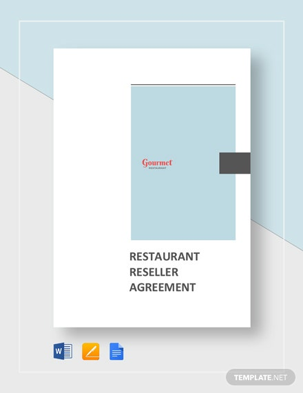Restaurant Reseller Agreement Template