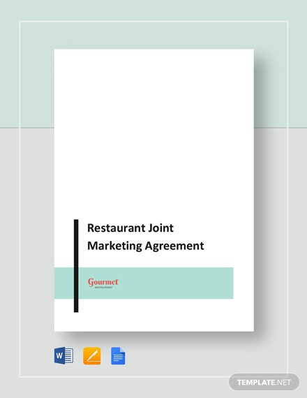 Restaurant Joint Marketing Agreement Template
