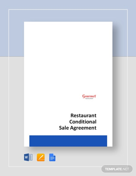 restaurant conditional sale agreement