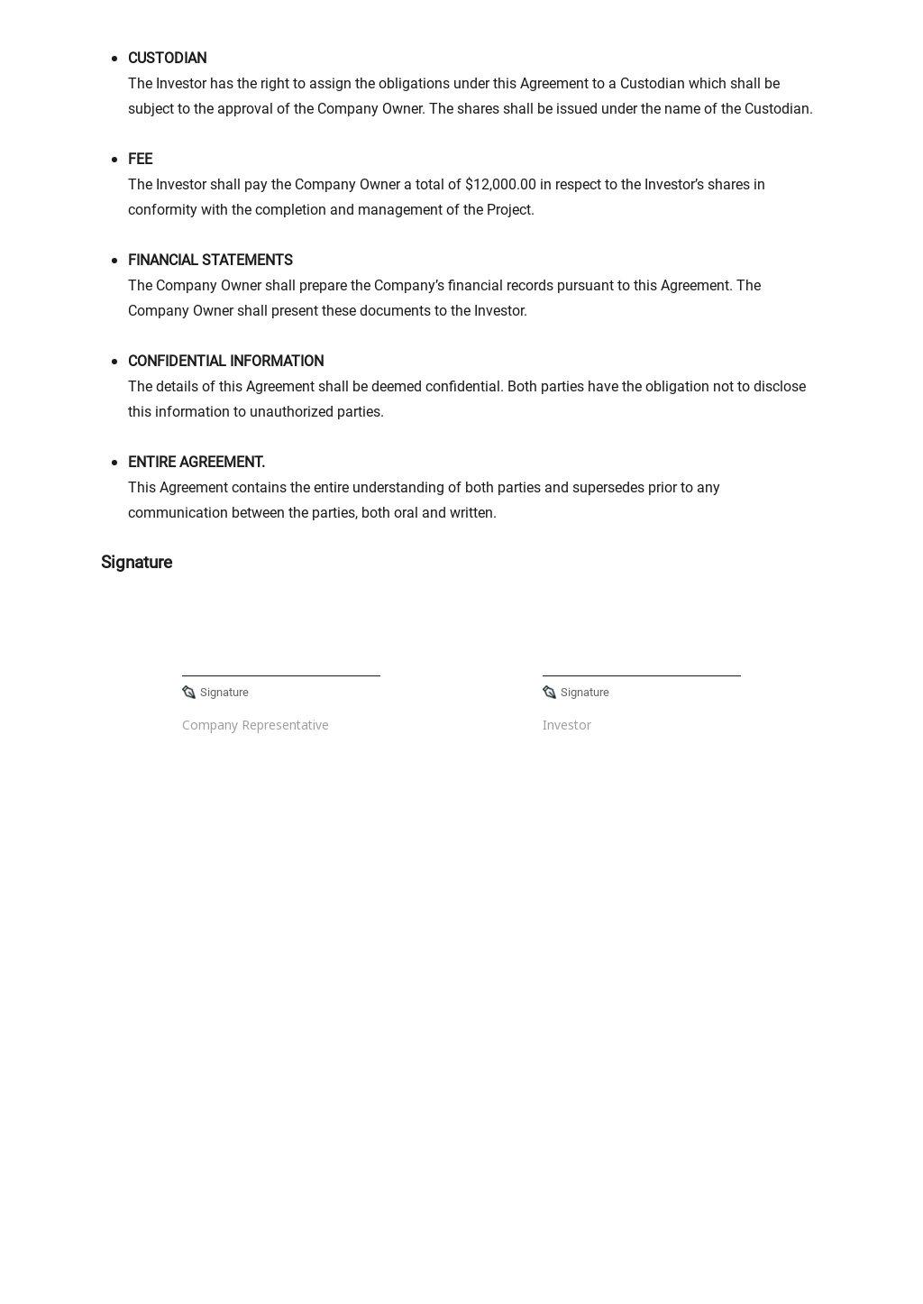 Restaurant Memorandum of Agreement Template 2.jpe