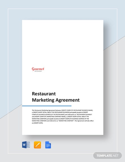 Restaurant Marketing Agreement Template