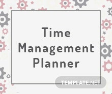 Free Time Management Planner Template