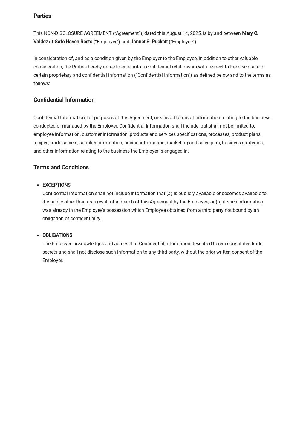 Restaurant Non Disclosure Agreement Template 1.jpe