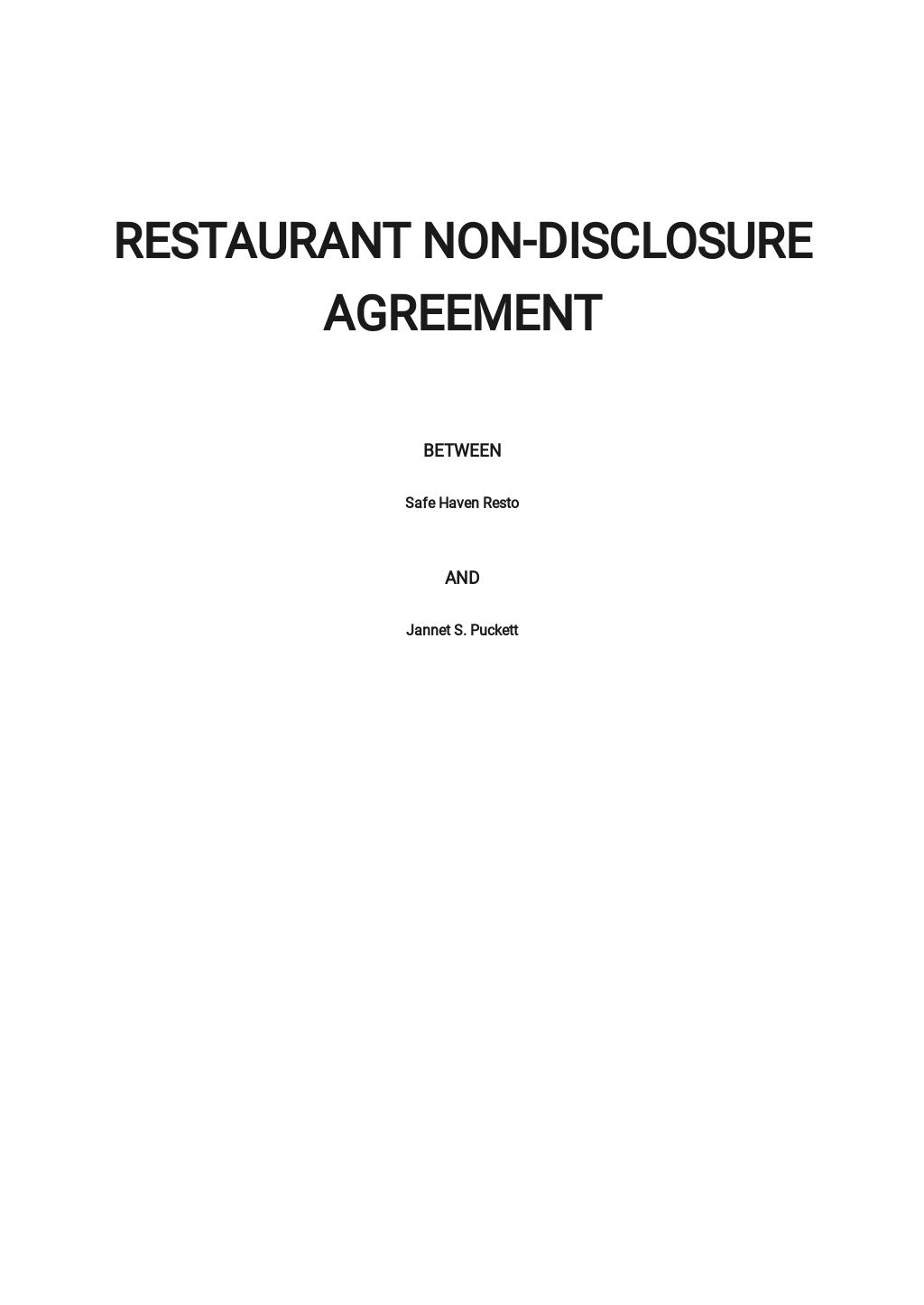 Restaurant Non Disclosure Agreement Template.jpe
