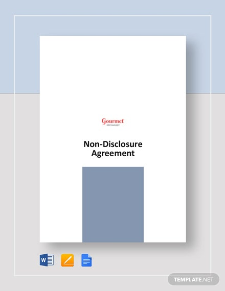 Restaurant Non Disclosure Agreement Template