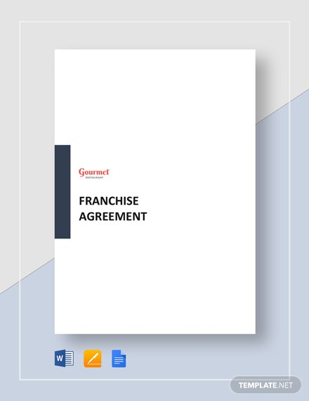 restaurant franchise agreement