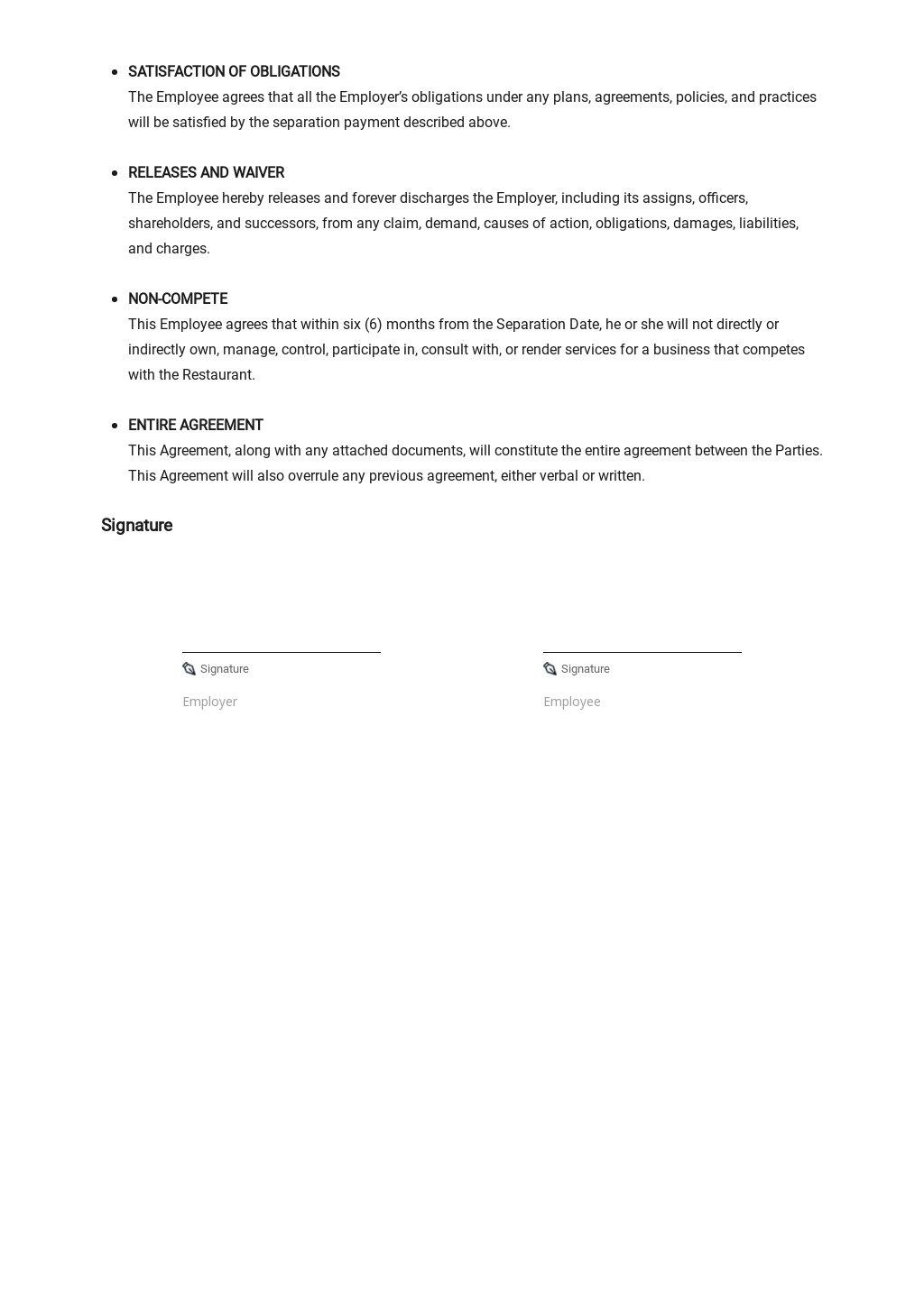 Restaurant Separation Agreement Template 2.jpe
