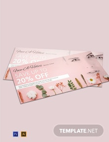 Free Beauty Center Discount Voucher Template