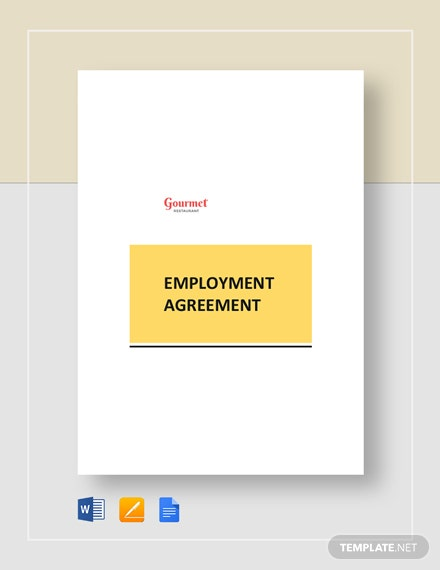 restaurant employment agreement