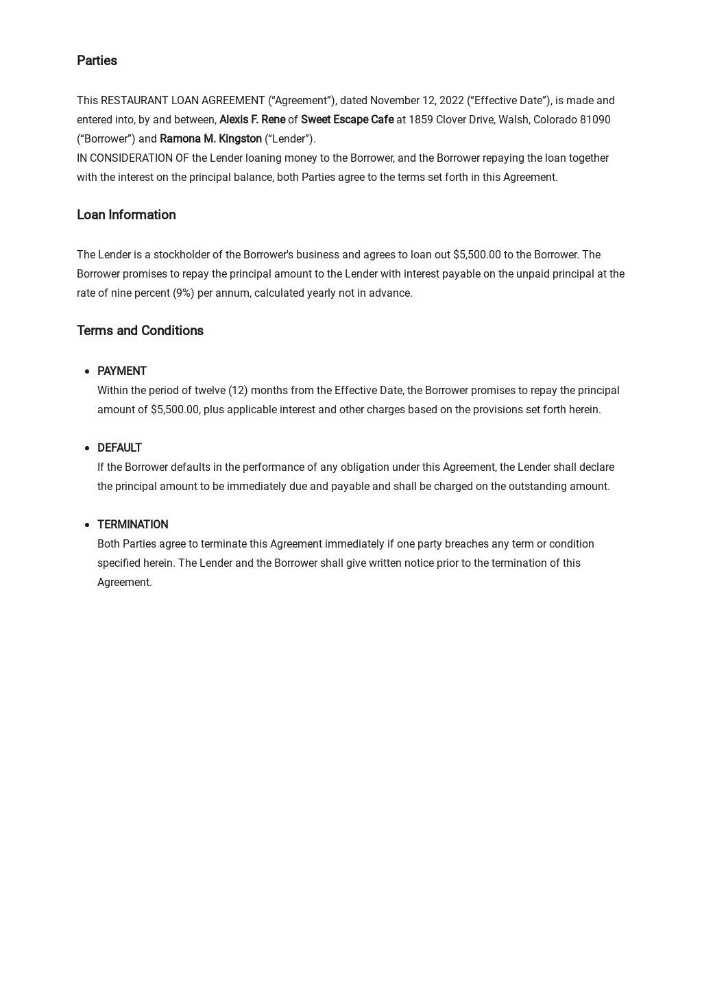 Restaurant Loan Agreement Stockholder to Corporation Template 1.jpe