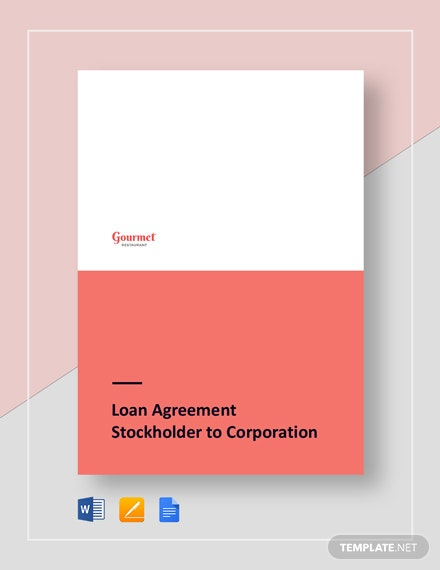 restaurant loan agreement stockholder to corporation