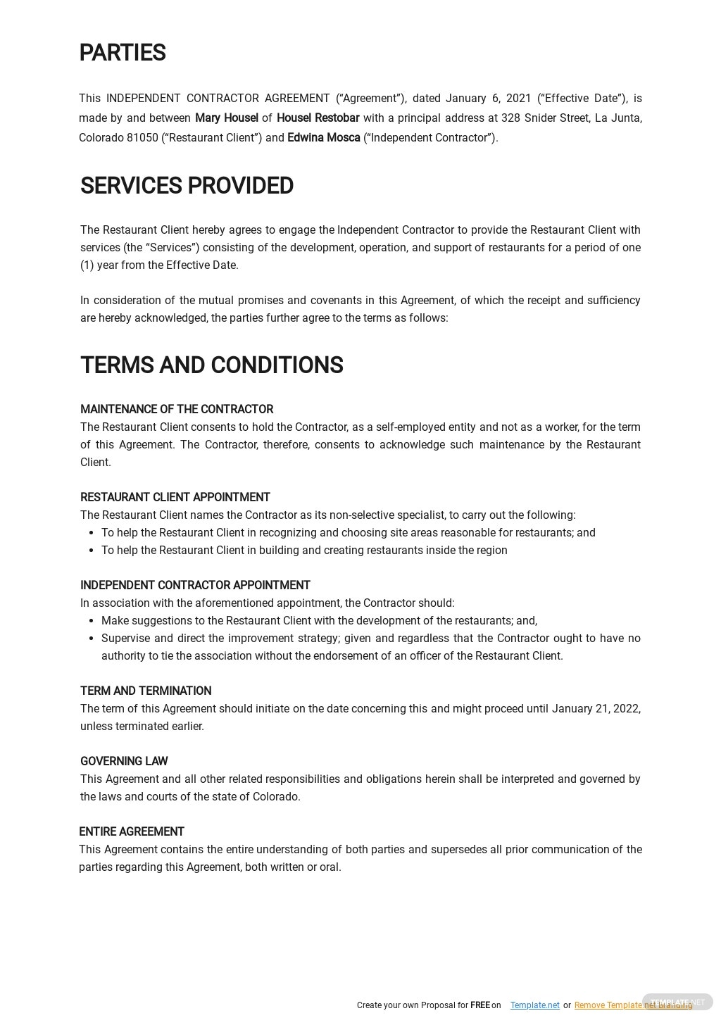 Restaurant Independent Contractor Agreement Template 1.jpe