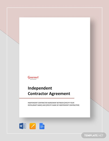 restaurant independent contractor agreement