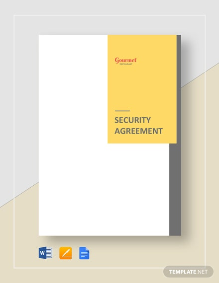 Restaurant Security Agreement Template