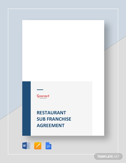 restaurant sub franchise agreement
