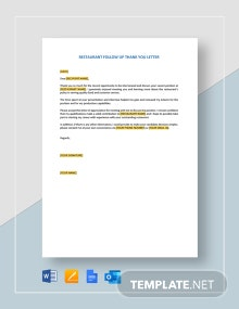 Restaurant Employment Offer Letter Template