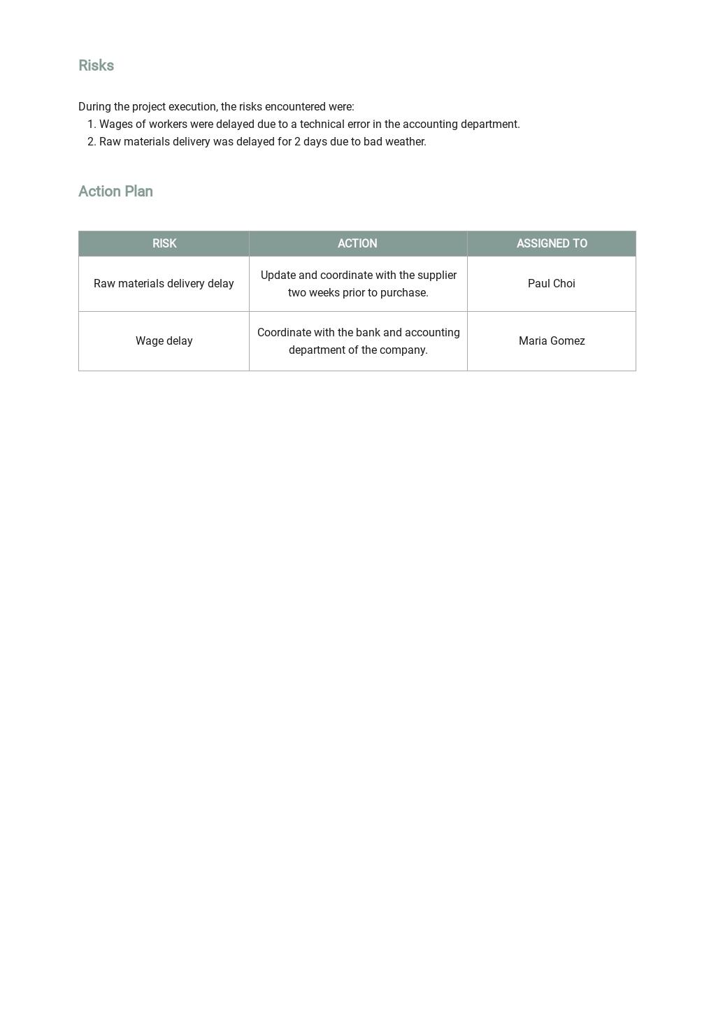 Restaurant Request for Status Report Template 3.jpe