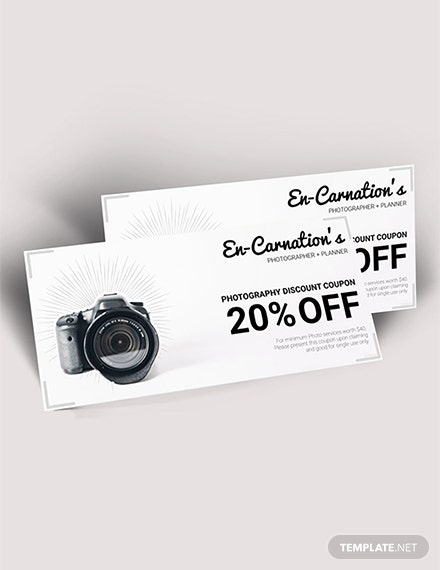 Free Photography Discount Voucher Template