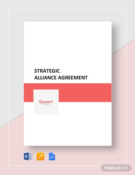 Restaurant Strategic Alliance Agreement Template