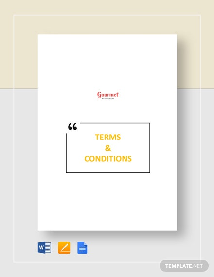 Restaurant Terms & Conditions Template
