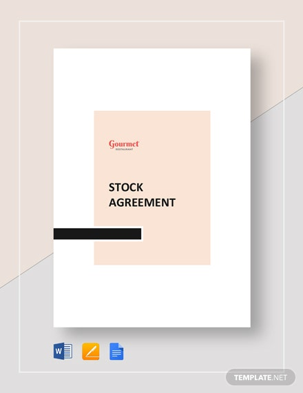 Restaurant Stock Agreement Template
