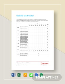 Customer Count Tracking Template