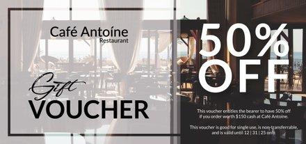 Free Restaurant Gift Voucher Template