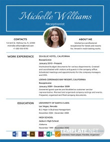 Free Basic Receptionist Resume Template