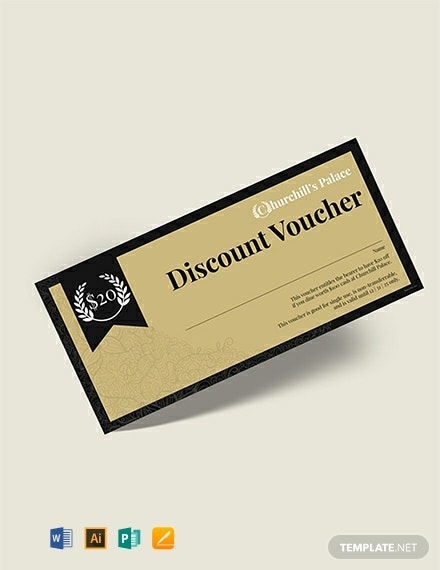 Free Retro Style Voucher Template