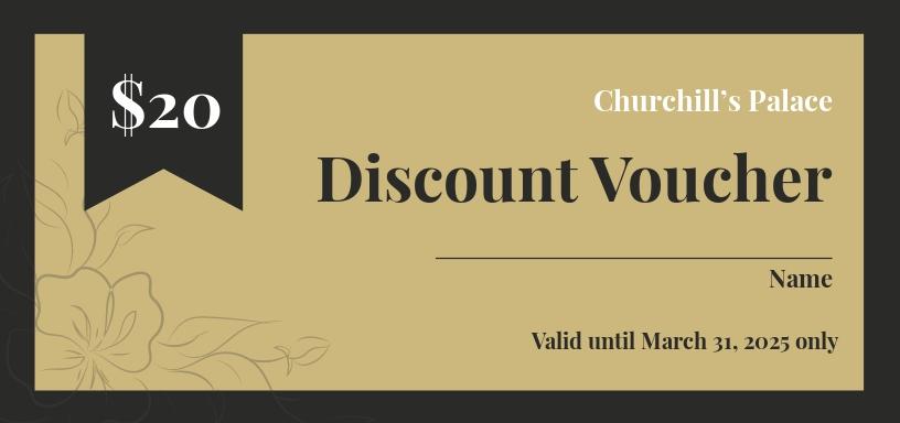 Free Retro Style Voucher Template