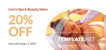Free Spa Beauty Gift Voucher Template