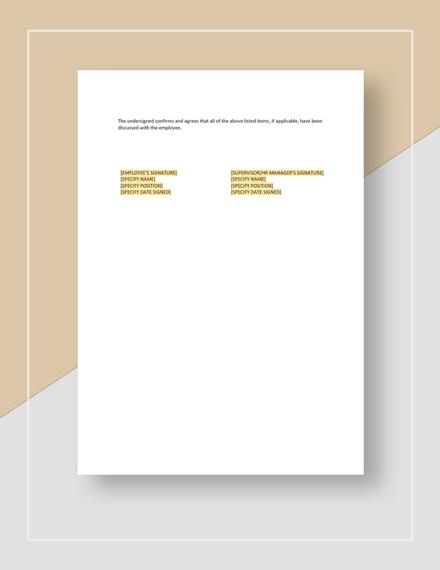 Sample Restaurant Employee Onboarding Checklist