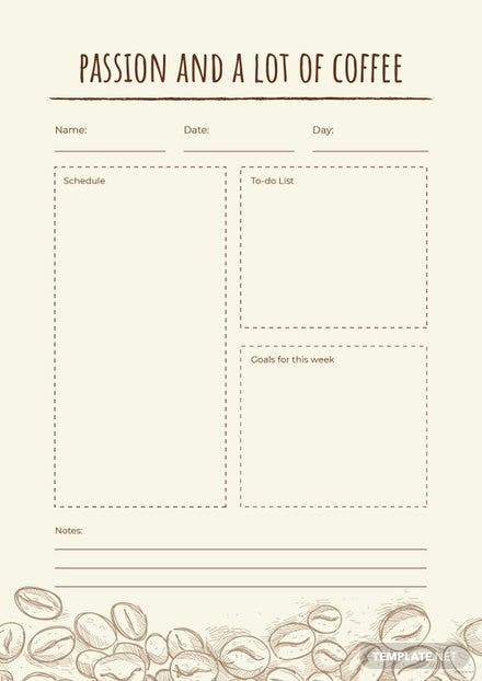 Free Coffee Journal Template