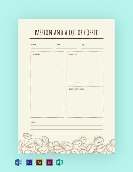 Coffee Journal Template