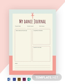 Free Dance Journal Template