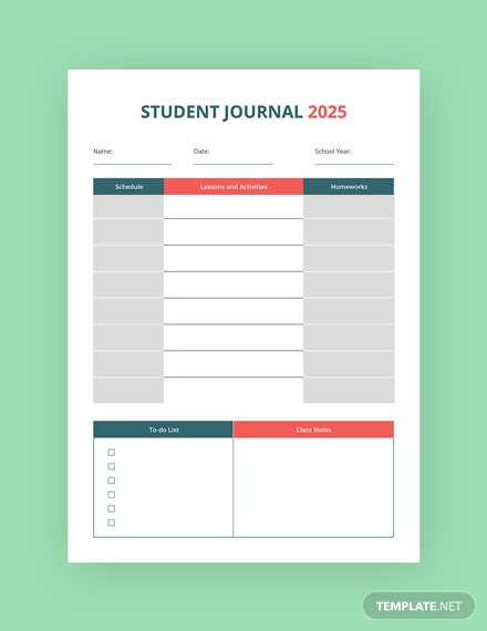 Free Education Journal Template