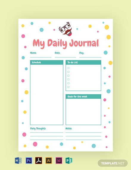 Funny Journal Template  - Illustrator, InDesign, Word, PSD, PDF, Publisher
