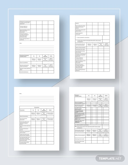 Basic Restaurant Audit Checklist