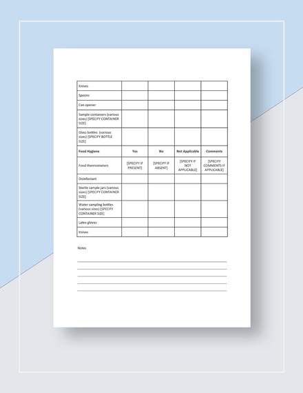 Restaurant Audit Checklist Download