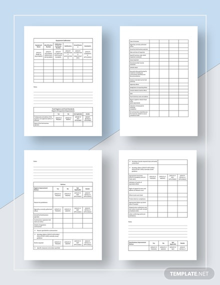 sample Restaurant Audit Checklist
